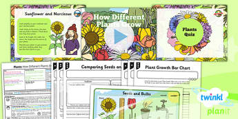 PlanIt - Science Year 2 - Plants Lesson 6: How Different Plants Grow Lesson Pack