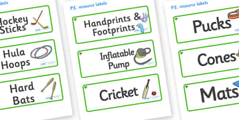 Elder Tree Themed Editable PE Resource Labels - Themed PE label, PE equipment, PE, physical education, PE cupboard, PE, physical development, quoits, cones, bats, balls, Resource Label, Editable Labels, KS1 Labels, Foundation Labels, Foundation Stage