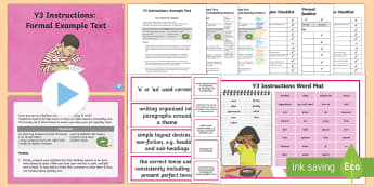 Y3 Instructions Example Text - Example Texts Y3, WAGOLL, instructions, recipe, method, instructional, exemplar, writing, example, p