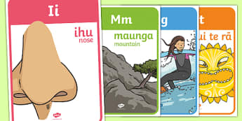 Nga Puriki Māori with English Display Posters