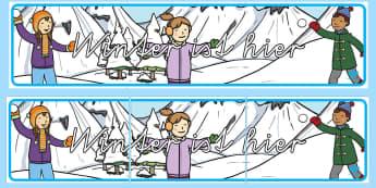 Winter ist hier Banner für die Klassenraumgestaltung - Winter ist hier Banner für die Klassenraumgestaltung, Winter, Winterzeit, Winter Banner, Winter Kla