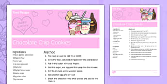 Mother's Day Chocolate Chip Cookie Recipe - australia, Mother's Day, cooking, recipes, procedure, chocolate chip cookie reading, food