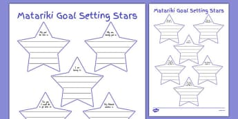 Matariki Goal Setting Stars - nz, new zealand, Matariki, goals, Maori, goal setting