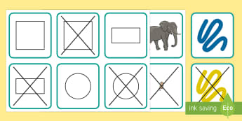 Tarjetas de un atributo para bloques lógicos - bloques, lógicos, logicos, dienes, material, manipulativo, matemáticas, mates, pensamiento, lógic