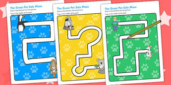 Pencil Control Path Worksheets to Support Teaching on The Great Pet Sale - pets, animals