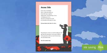 ANZAC Ode Poem English/Te Reo Māori - New Zealand, Anzac Day, 25 April, ANZAC, Poppies, World War 1, World War 2, Gallipoli