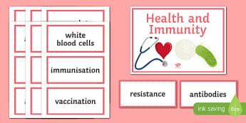 Health and Immunity Word Wall