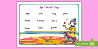 April Fool's Day Word Mat - EYFS/KS1 April Fool's Day (1st April), 1st april, silly, jokes, fools, vocabulary