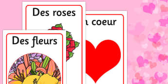 Valentine's Day Display Posters French - french, valentines, day, display, poster