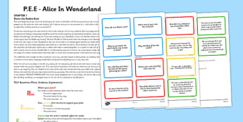 Point Evidence Explanation Activity Alice in Wonderland - point, evidence, explanation, alice in wonderland