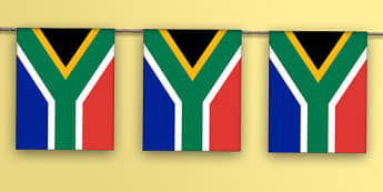 South Africa Bunting - flag, world, geography, display