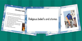 Relgious Stories and Beliefs PowerPoint - RE, religion, beliefs