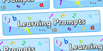 Learning Prompts Display Banner - Literacy target, Learning to write, display banner, display, our targets, aims, goals, maths targets, literacy targets, class targets, class goals