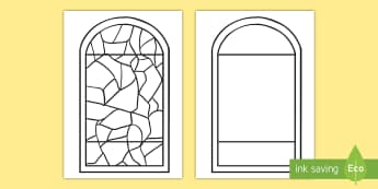 Stained Glass Window Template - - Stained Glass Window, church, glass, tissue window,