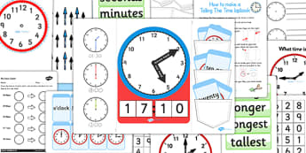 Telling The Time Lapbook Creation Pack - lapbooks, pack, time