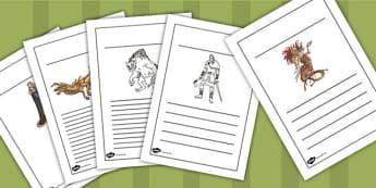 Beowulf Writing Frames - beowulf, writing frames, writing, sheets