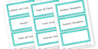 Geography Word Cards - Geography Keywords Primary Resources, map, city, sights, country