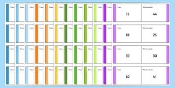 Maths Addition Subtraction Doubling and Halving Loop Cards Up to 100 12 Sets - maths, loop cards