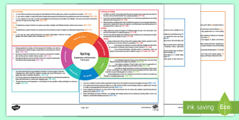 Spring First Level CfE Interdisciplinary Topic Web-Scottish - Scottish CfE, cross curricular, plan, planner, planning, overview, IDL, weather, seasons, climate, 1