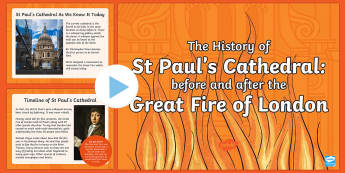 KS2 The History of St Paul's Cathedral Project PowerPoint - St Paul's, St Paul's Cathedral, cathedral, Christianity, Christian, church, London, building, stru