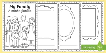 My Family Booklet English/Portuguese - My Family Booklet - family, book, sister, father, mother, brother, Family's, eal
