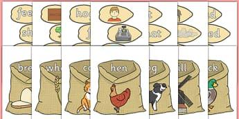 Little Red Hen's Rhyming Strings EYFS Resource Pack - little red hen, rhyming, strings