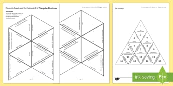 Domestic Supply and the National Grid Tarsia Triangular Dominoes - Tarsia, gcse, physics, domestic supply, electricity, mains electricity, national grid, plug, wiring