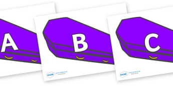 A-Z Alphabet on Speech Bubbles (Plain) - A-Z, A4, display, Alphabet frieze, Display letters, Letter posters, A-Z letters, Alphabet flashcards