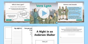 Dame Vera Lynn Activity PowerPoint Pack - vera, lynn, vera lynn, dame vera lynn, we'll meet again, white cliffs of dover, world war 2, world