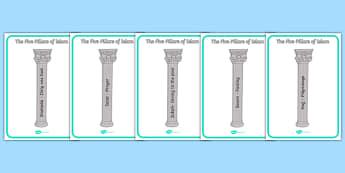The Five Pillars of Islam - five pillars of islam, islam, pillars