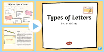Types of Letters PowerPoint - letters, informal letter, formal letter, types of letters, letter writing,