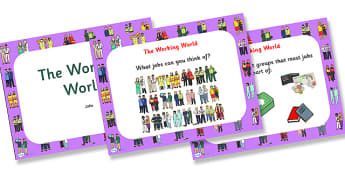 The World of Work PowerPoint - the world of work, the working world, jobs, getting a job, becoming a citezen, citezenship powerpoint, ks2 pshe powerpoint