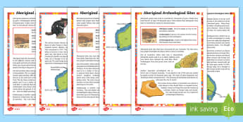 Aboriginal Archaeological Sites Differentiated Reading Comprehension Activity - Aboriginal, archaeological sites, Nauwalabila, Devil's Liar, Lake Mungo, ACHASSK083,Australia