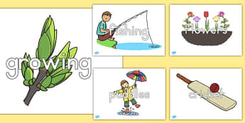 Spring Topic Words on Topic Images - seasons, display, weather