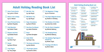 Adult Holiday Reading Book List