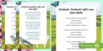 Spring Song Lyrics German - Spring, German, Frühling, Song