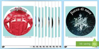 Foto Rotonde da Ritagliare Invernali - Winter Display Circle Photo Cut Outs - winter, display, circle, photo, cut outs, winter display, wnt