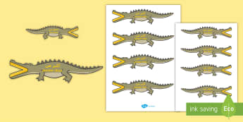 Greater Than And Less Than Crocodiles - Greater Than And Less Than (Crocodiles, Small) - greater than, less than, maths, numeracy, greater t