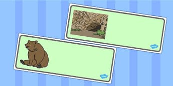 We're Going On A Bear Hunt Editable Drawer-Peg-Name Labels - Bear Hunt, Michael Rosen, resources, swishy swashy, Bear Hunt, Bear Hunt Story, splash splosh, thick oozy, deep dark cave, family, journey, story, story book, story book re