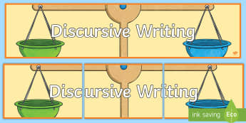 Discursive Writing Display Banner - CfE Writing,Balanced argument,DIscursive Writing,Writing display,ENG 2-27a ,LIT 2-29a ,Scottish