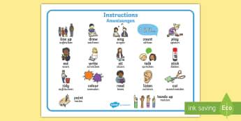 New EAL Starter Instructions Word Mat English/German - literacy, words, EAL, German, learning German,German-translation