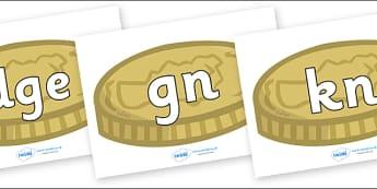 Silent Letters on Coins - Silent Letters, silent letter, letter blend, consonant, consonants, digraph, trigraph, A-Z letters, literacy, alphabet, letters, alternative sounds