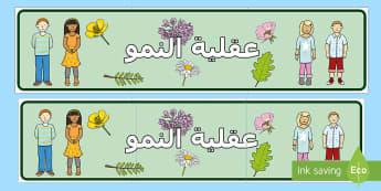 لوحة حائط عقلية النمو - لوحة حائط، عقلية النمو، إدارة الصف، عربي،عقلية التطور,
