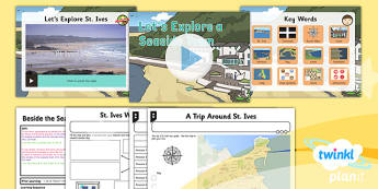 PlanIt - Geography Year 2 - Beside the Seaside Lesson 4: Let's Explore a Seaside Town Lesson Pack