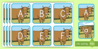 Farm Animal Alphabet Matching Cards - Early Childhood Animals, Animals, Pre-K Animals, K4 Animals, 4K Animals, Preschool Animals, Farm Ani