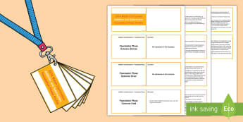 Lanyard Sized  Foundation Phase Profile Addition and Subtraction Cards -  Lanyard Foundation Phase Outcomes, Foundation Phase, Foundation Phase Profile, FPP, Wales, Assessme