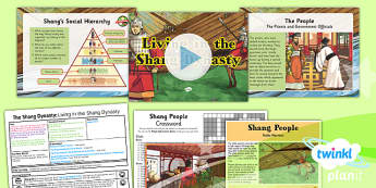 PlanIt - History UKS2 - The Shang Dynasty Lesson 2: Living in the Shang Dynasty Lesson Pack - social hierarchy, China, ancient civilisation