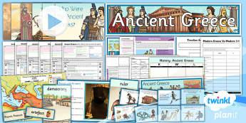 PlanIt - History UKS2 - Ancient Greece Unit Pack Flipchart