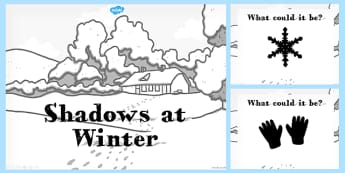 Winter Themed Shadow PowerPoint - winter, shadow, powerpoint