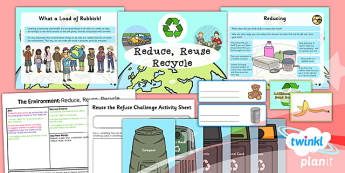 PlanIt - Science Year 2 - The Environment Lesson 2: Reduce, Reuse, Recycle Lesson Pack - planit, science, year 2, lesson 2